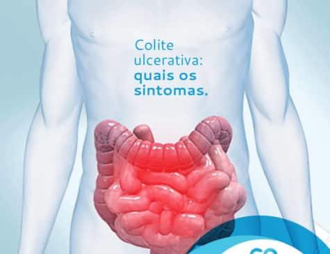 Ilustração de intestinos Postagem redes sociais Dra. Cinara Oliveira cliente E-clínica Marketing digital médico