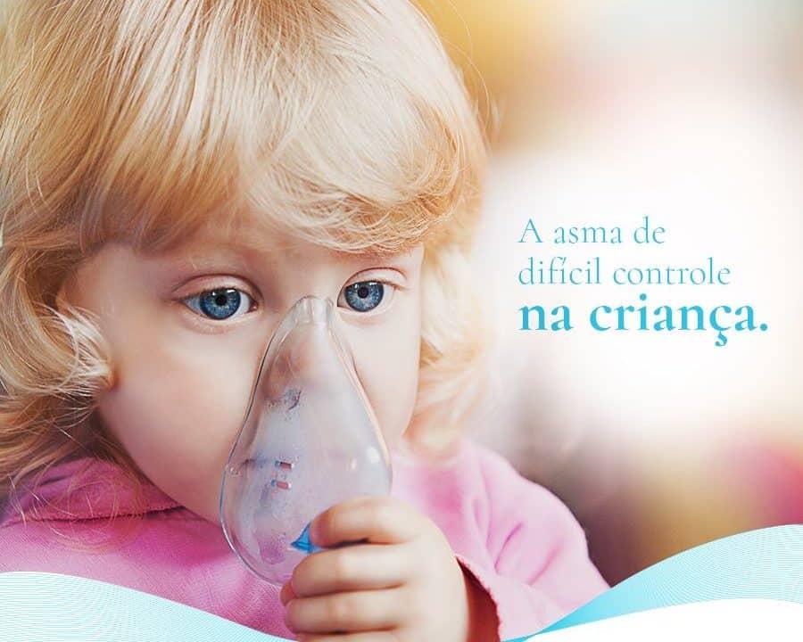 Post de rede social para a Dra. Nazaré Cardoso cliente E-clínica Marketing Digital com criança em tratamento respiratório