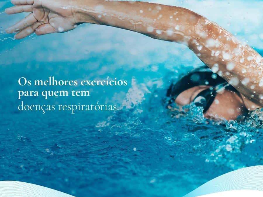 Post para rede social Dra Nazaré Cardoso cliente E-clínica marketing Digital homem nadando