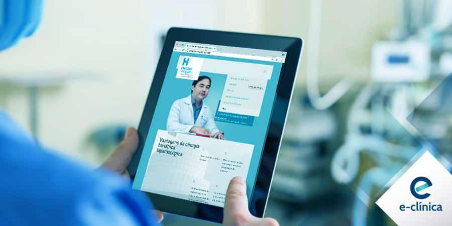 Vantagens site uma página profissional de saúde