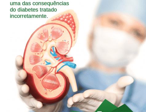médica mostrando rim postagem de rede social Hospital Amazônia cliente E-clínica Marketing Digital para médico